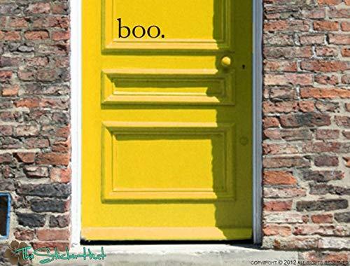 (DFSDF Boo Halloween Front Door Vinyl Wall Art Graphic Stickers Decals)