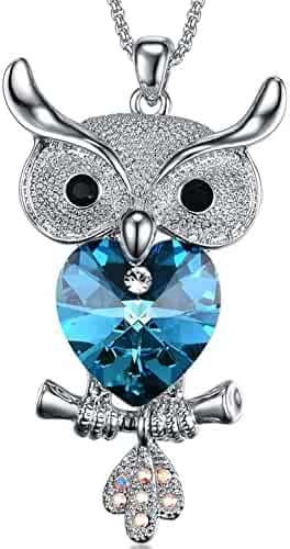 7c74bc056 Guardian Wings Heart Crystal Necklace - Angel Wings Pendant Birthstone  Heart Necklace Jewelry for Women