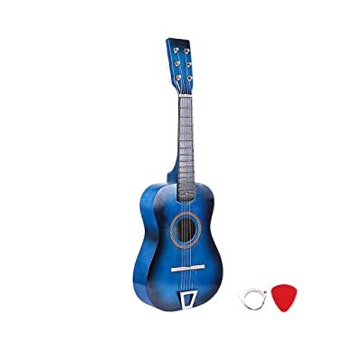 RuiyiF Kids Guitar for Girls Boys 6 Strings, 23 Inch Toddler Toy Acoustic Guitars for Kids Age 3-5 Years Educational Toy (Blue): Toys & Games