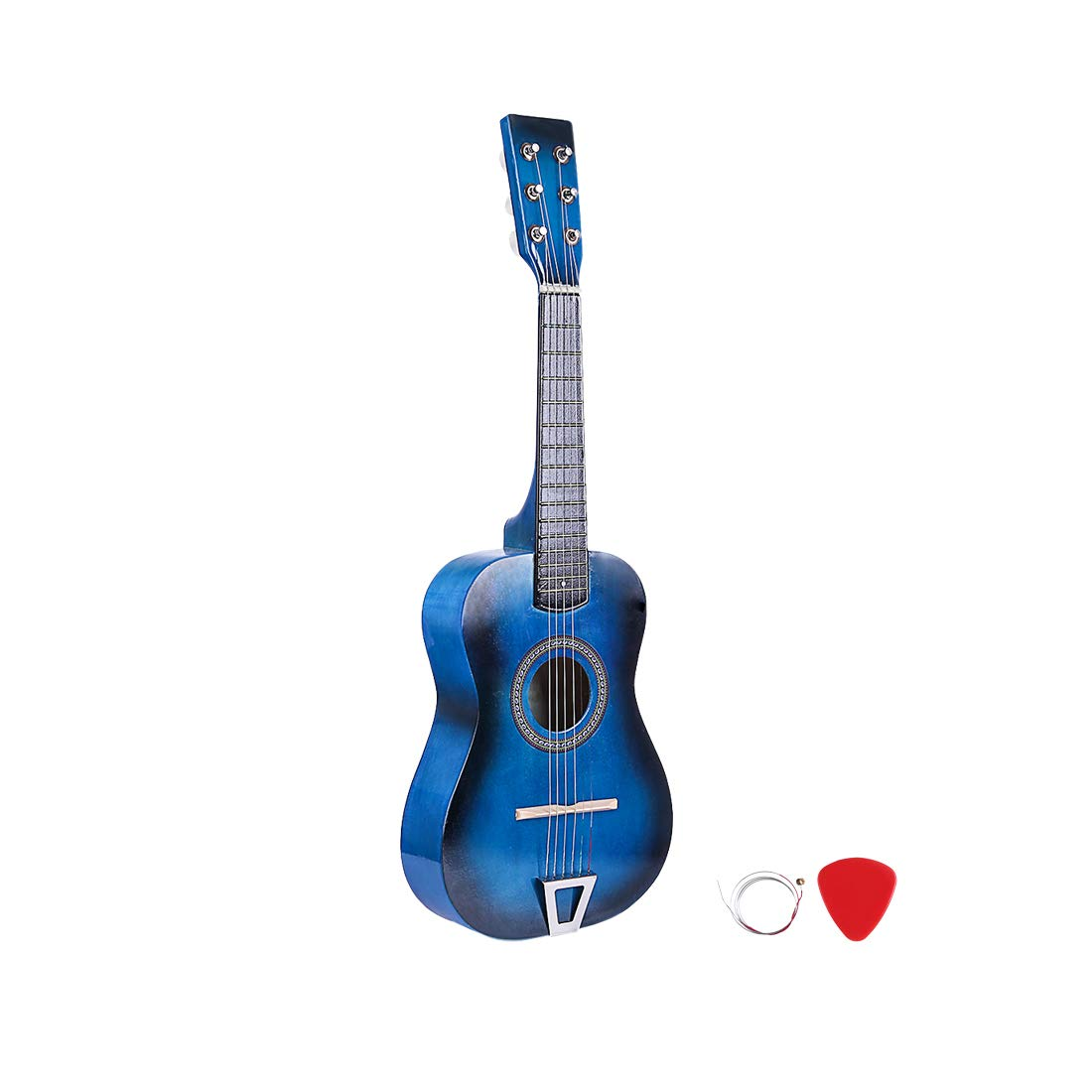 RuiyiF Kids Guitar for Girls Boys 6 Strings, 23 Inch Toddler Toy Acoustic Guitars for Kids Age 3-5 Years Educational Toy (Blue) by RuiyiF