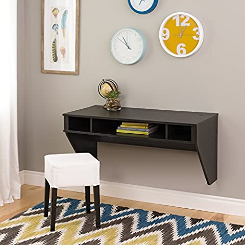 Wall Mounted Designer Floating Desk in Washed Ebony