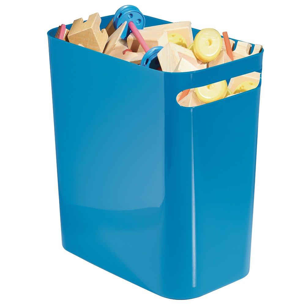 Kitchen or Bedroom Plastic Wastepaper Bin for Office Lemon Yellow 93007 InterDesign Una Rubbish Bin with Handles