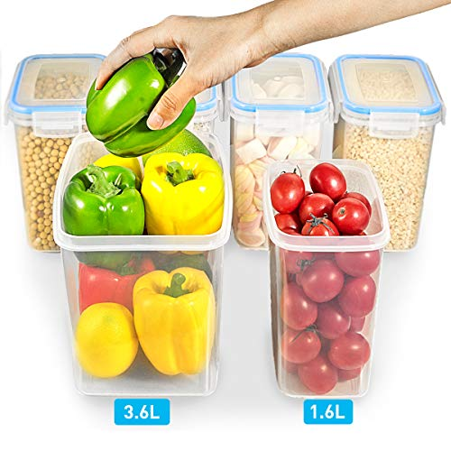 Airtight Food Storage Containers – Wildone Cereal & Dry Food Storage Container Set of 6, Leak-proof & BPA Free, With 1…