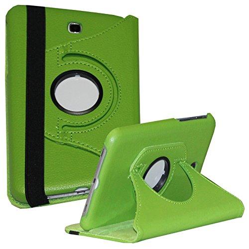 Samsung Galaxy Tab 3 7.0 Case, JYtrend (R) 360 Rotating Stand Cover for Galaxy Tab 3 7-inch SM-T210 T210R SM-T211 SM-T215 SM-T217 T217A T217S T217T SM-T2105 GT-P3220 GT-P3210 GT-P3200 (Green)