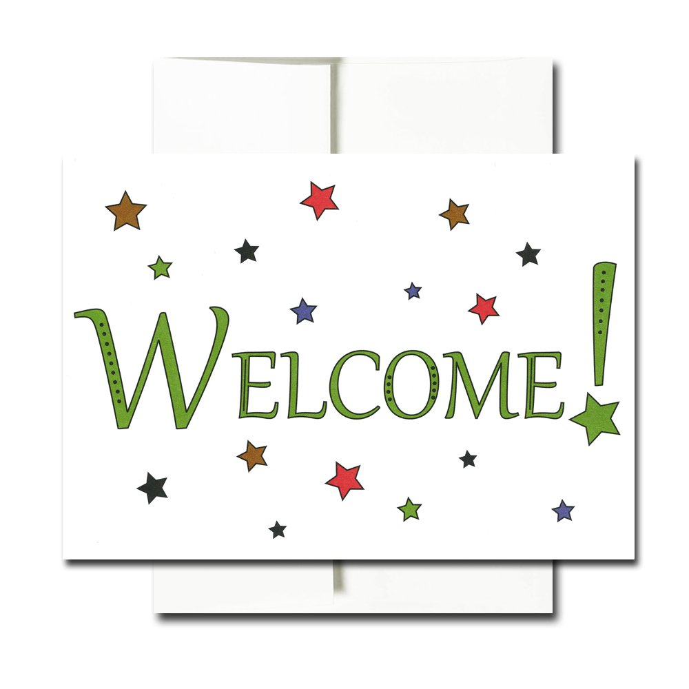 Welcome Cards: Starry - Box of 30 Blank Note Cards and 32 Envelopes