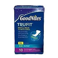Goodnites Durable Underwear Refills Unisex Small/Medium, 18-Count