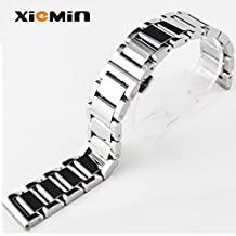 XIEMIN 16MM Steel Metal Watch Band/ Strap Watchband for Moto360 2nd Generation, Regular Replacement Strap 16mm-band watches(Silver)