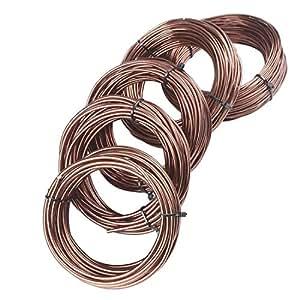 5tamaños formación 150g/rollo de alambre de aluminio bonsai árbol herramientas 1.5/2.0/2.5/3.0/3.5mm