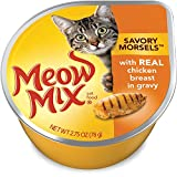 Meow Mix Savory Morsels with Real Chicken Breast in Gravy Wet Cat Food, 2.75oz Cups (Pack of 24) Review