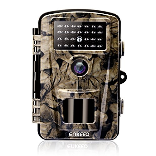 ENKEEO PH700A Trail Camera 1080P 12MP HD Game Camera Wildlife Hunting Motion Activated Cams with IP66 Waterproof Design, 940nm Night Vision IR LEDs, 0.2s Trigger Time, Time Lapse and 2.4 LCD Screen