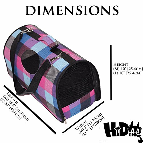 Soft-Sided Cat Carrier [Airline TSA Approved]- Pet Travel Portable Kennel for, Cats, Small Dogs and Puppies by Hiding (Largest Dog Kennel)