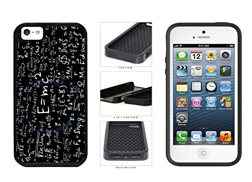 Albert Einstein Math Equations - 2-Piece Dual Layer High Impact Phone Case Back Cover (iPhone 5 5s) comes with Security Tag and MyPhone Designs(TM) Cleaning Cloth