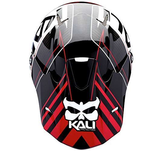 Kali Protectives Shiva Carbon Full Face Helmet Large Speed Machine Black//Red