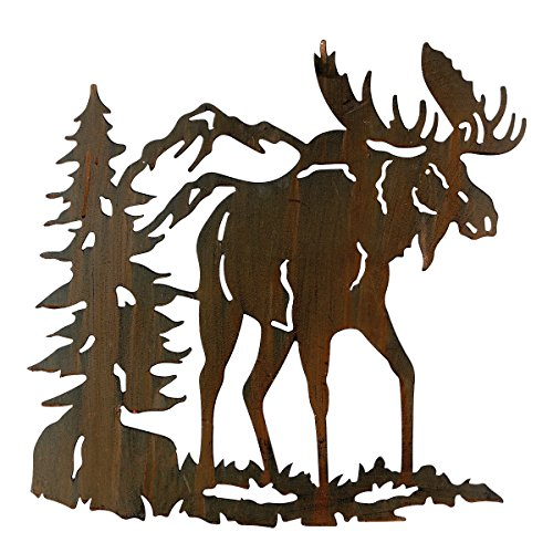 Moose Metal Art Lodge Wall Hanging - Wilderness - Hanging Moose Wall