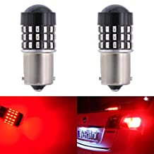 KATUR 2pcs Super Bright 1156 BA15S 7506 1073 1095 1141 3014 54SMD Lens LED Replacement Bulbs Turn Brake Signal Tail Back Up Stop Parking RV Lights 3.1W DC 12V-24V Red