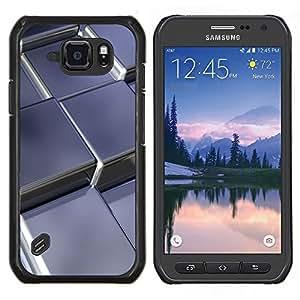 EJOOY---Cubierta de la caja de protección para la piel dura ** Samsung Galaxy S6Active Active G890A ** --Cubos de metal abstractas