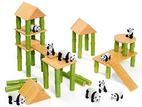 Lakeshore Panda Village Block Set