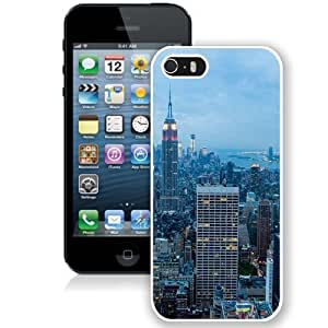NEW Unique Custom Designed Case For HTC One M8 Cover Phone Case With New York City Blue Dusk_White Phone Case