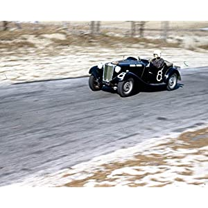 1951 ? MG TD MGTD Race Photo Thompson Scuderia Hysteria