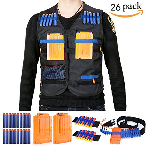 Tactical Vest kit for Nerf Gun N-strike Elite Series 26 Pieces - (Rifle Vest)