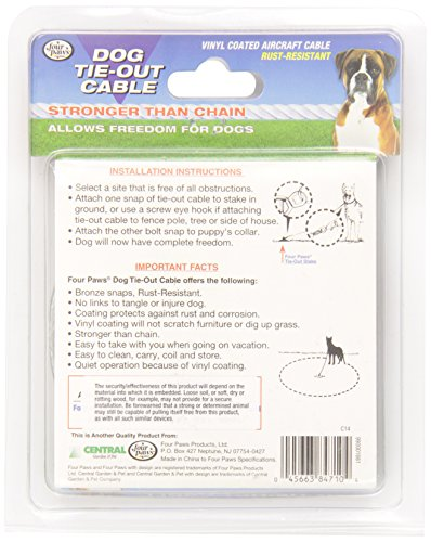 Four-Paws-Silver-10-Foot-Heavy-Weight-Dog-Tie-out-Cable