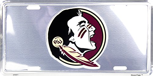 Florida State University Seminole Collegiate Chrome Embossed Vanity Metal Novelty License Plate Tag Sign Collegiate Florida State University