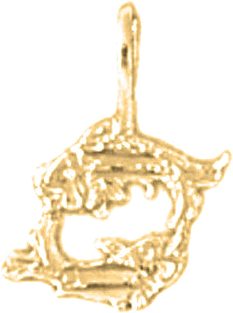 Pisces Pendant JEWELS OBSESSION 18K Zodiac Pisces Pendant Made in USA 18K Yellow Gold Zodiac