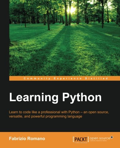 Learning Python: Learn to code like a professional with Python - an open source, versatile, and powerful programming language by Packt Publishing - ebooks Account