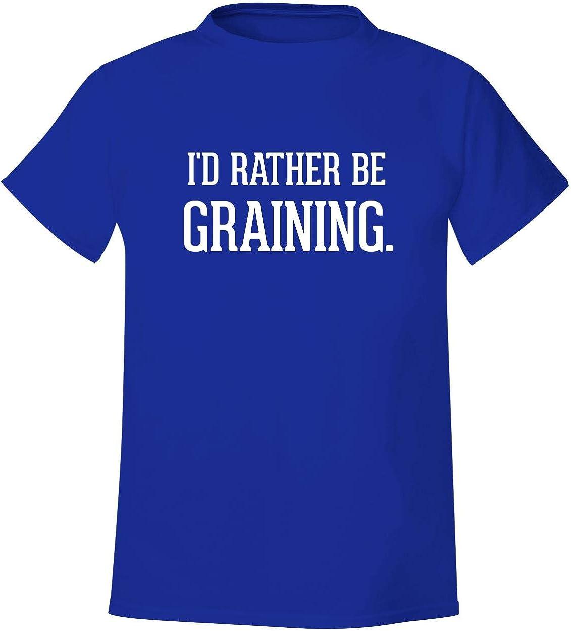 I'd Rather Be GRAINING. - Men's Soft & Comfortable T-Shirt