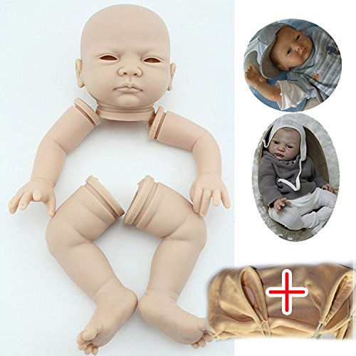 "Soft Vinyl Reborn Doll Kits(head,limbs,20""cloth body),Lifelike Baby Making your Own"