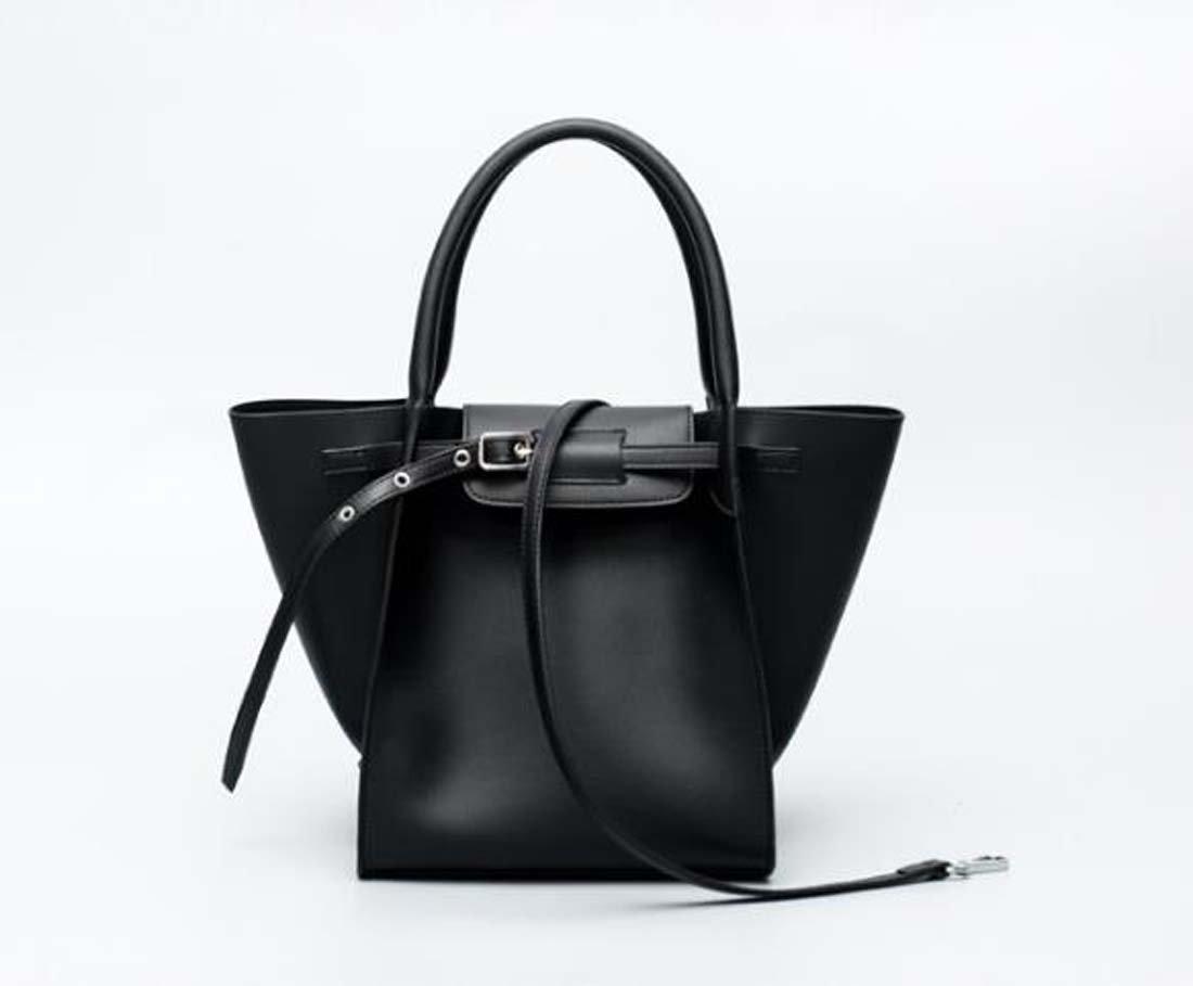 Women's Black Wing Bag Square Crossbody Bag Handbag Shoulder Bag Solid color PU faux leather synthetic leather