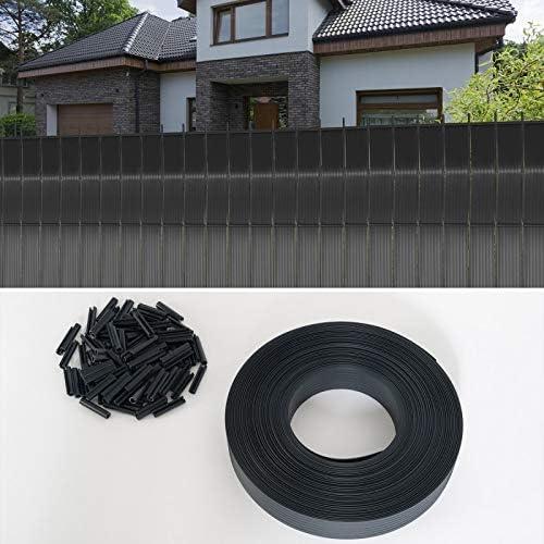 Kit de l/áminas opacas de PVC gris L.60 m para panel de rejilla IDMarket