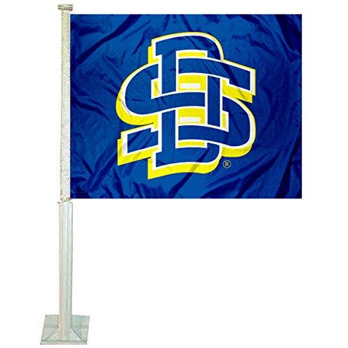 SDSU Jackrabbits Car and NCAA Auto Flag