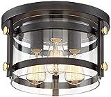 Eagleton 13 1/2'' Wide Oil-Rubbed Bronze Ceiling Light
