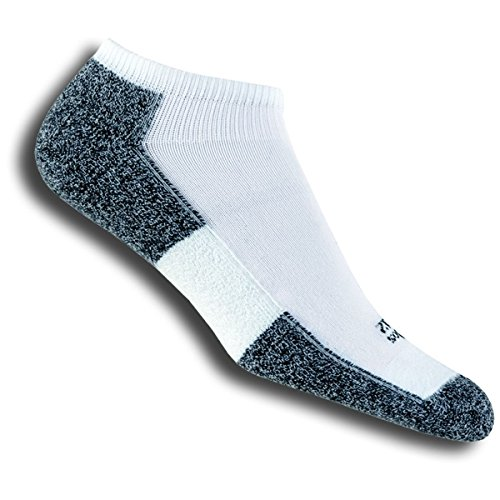 Thorlos Unisex LRMXM Light Running Thin Padded Ankle Sock, White, - Coolmax Thorlo Mini