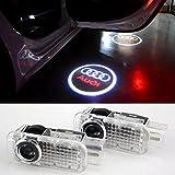 COGEEK 2 PCS Logo Laser Projector Door Under Puddle Lights For Audi A4 A3 A6 Q7 Q5 A1 A5 80 TT A8 Q3 A7 R8 RS (Audi circle)
