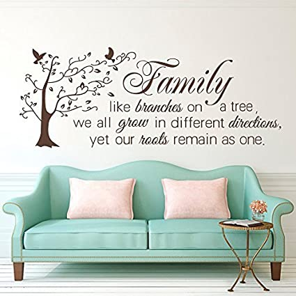 Family Like Branches On A Tree Inspirational Wall Art Mural Decal Sticker
