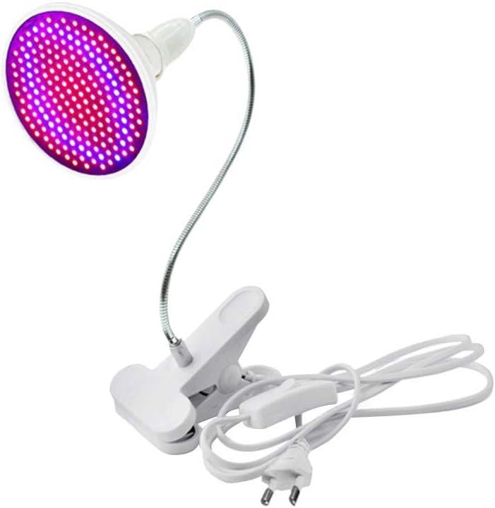 LEDMOMO Luce per piante LED Grow Light E27 12W Morsetto a collo di cigno Clip luce su Desk Light per Garden Green Indoor