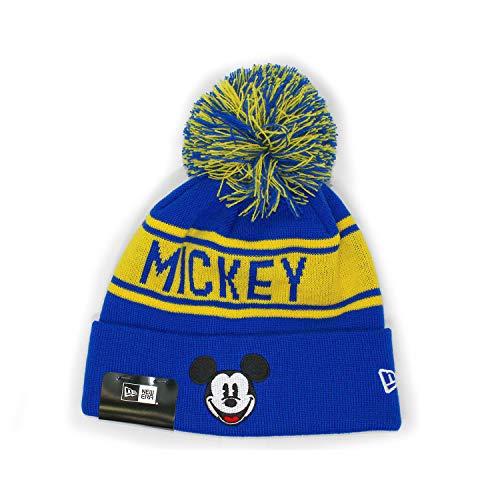 (ニューエラ) ディズニー ミッキーマウス 【MICKEY MOUSE POM POM KNIT BEANIE】 NEW ERA DISNEY (ブルー)