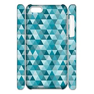 3D Abstract Turquoise IPhone 5C Case, Cute Iphone 5c Cases for Teen Girls Girly Protective Doah - White