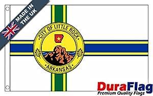 duraflag® Little Rock, Ar bandera de calidad profesional (puerta y Cambiadas), 0.5 Yard (45cm x 22cm)
