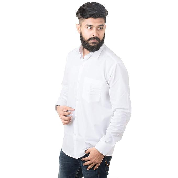 548b7fe25ace JPF Smart Men s Regular Fit Full Sleeve Casual Shirt (JPF1004 L White 42)