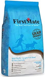 FirstMate Wild Pacific Caught Fish and Oats Formula, 5 Pounds, Grain Friendly Diet for Dogs