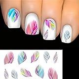 ELENXS Beauty Accessories Nail Art Water Transfer Decal Sticker Rainbow Dreams