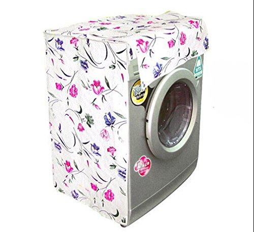Flower Home Washer Tumbling-Box Washing Machine Protector Guard Cover B-Type Zipper Belt (Tumbling Flowers)