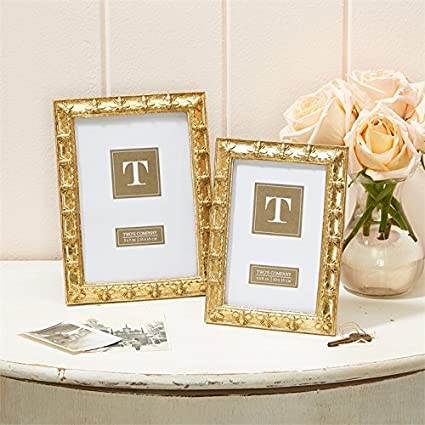 Amazon.com - Twos Company Set of 2 Golden Bee Photo Frames 4X6 and 5X7 -