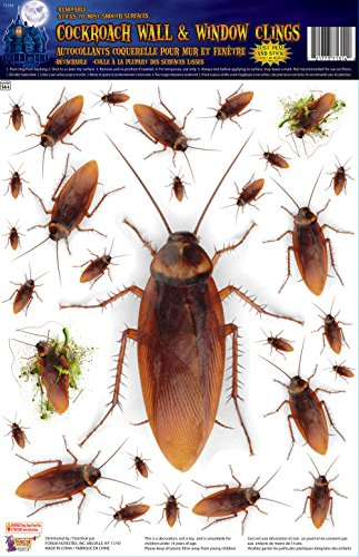 Forum Novelties Cockroach Wall/Window Stickers, Brown -