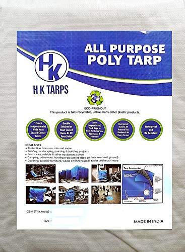 All Purpose Reinforced Tarpaulin Waterproof Canopy Poly Tarps 3Oz 6 Mil - White/Black (10 x 30 Feet) ()