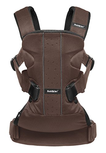 BABYBJORN Baby Carrier One - Brown/Black, Mesh