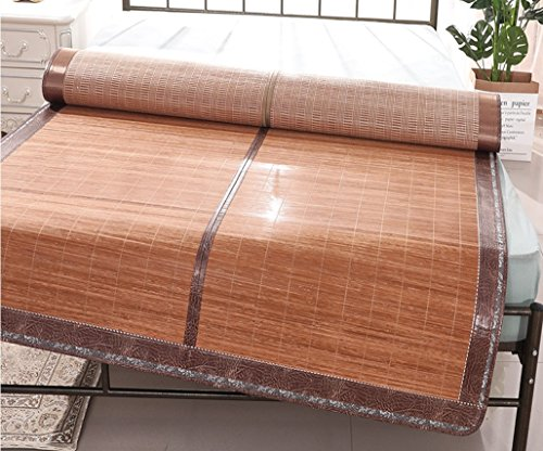 Bamboo Mat Carbonized Bamboo Mat Student Mat 1.5 Summer Simple Mat Single ZXCV (Size : 1.2m) by BEIRU